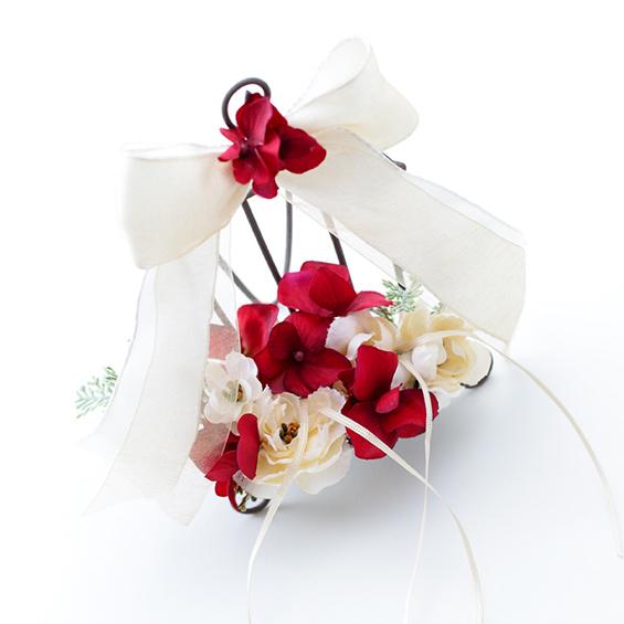 リングピロー〔マルサラ〕完成品|結婚式演出の手作りアイテム専門店B.G.