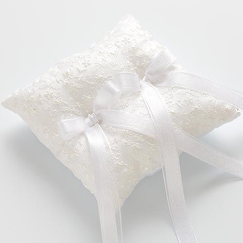 リングピロー〔チュールレース ホワイト〕完成品||結婚式演出の手作りアイテム専門店B.G.