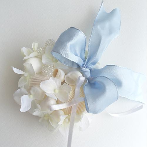 リングピロー〔貝がら〕手作りキット|結婚式演出の手作りアイテム専門店B.G.|商品画像アップ