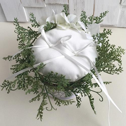 リングピロー〔グリーンウッド〕手作りキット|結婚式演出の手作りアイテム専門店B.G.