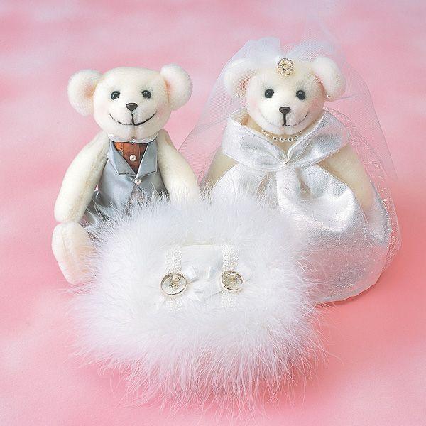 リングピロー〔ベア・ふわふわ〕完成品|結婚式演出の手作りアイテム専門店B.G.