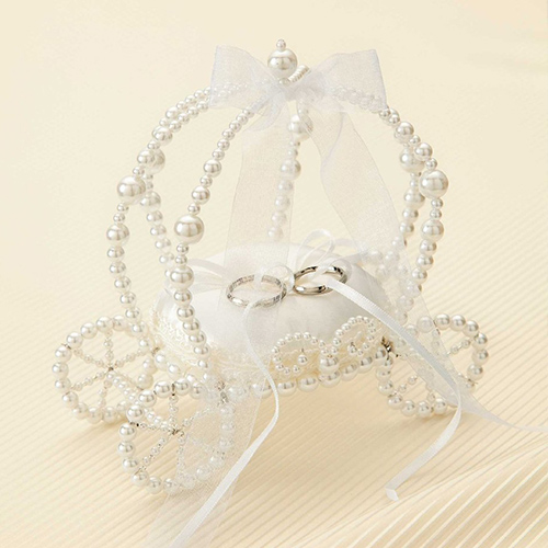 リングピロー〔エターナル馬車・ホワイト〕手作りキット|結婚式演出の手作りアイテム専門店B.G.