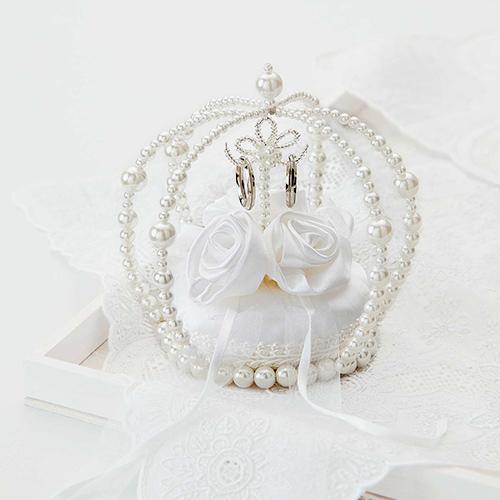リングピロー〔エターナル巻きバラ・ホワイト〕手作りキット|結婚式演出の手作りアイテム専門店B.G.