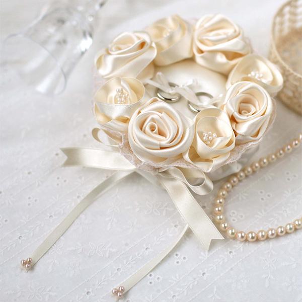 リングピロー〔シャンパンゴールドローズ〕手作りキット|結婚式演出の手作りアイテム専門店B.G.