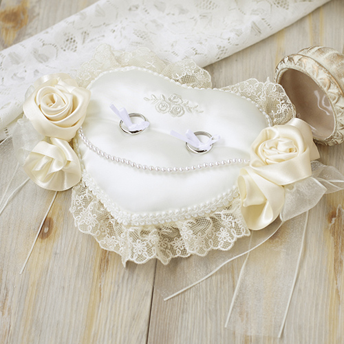 リングピロー〔ローズハート〕手作りキット|結婚式演出の手作りアイテム専門店B.G.