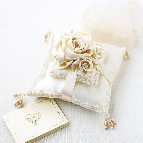 リングピロー〔ベールローズ手作りキット|結婚式演出の手作りアイテム専門店B.G.