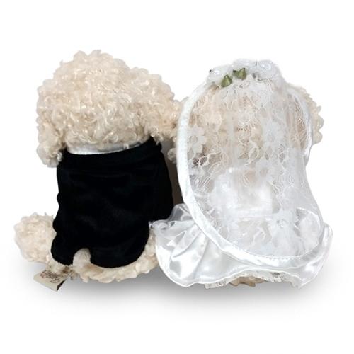 ウェルカムドール〔トイプードル・ホワイト〕完成品 結婚式演出の手作りアイテム専門店B.G.