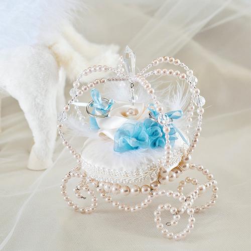 ブライダルファッションデザイナー桂由美さんのリングピロー〔ユミパールキャリッジ〕手作りキット