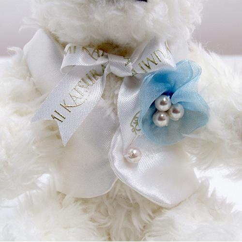 ブライダルファッションデザイナー桂由美さんのウェルカムドール〔ユミホワイトファミリー男の子〕完成品