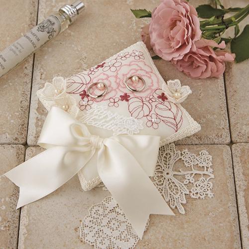 リングピロー〔ローズパターン〕手作りキット|結婚式演出の手作りアイテム専門店B.G.