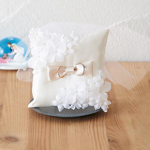 リングピロー〔フラワースクエア〕手作りキット|結婚式演出の手作りアイテム専門店B.G.